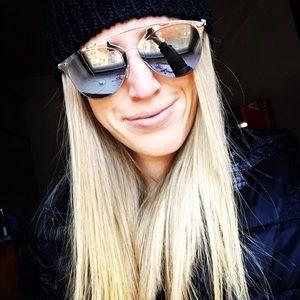 Dior Reflected 52mm Brow Bar Sunglasses